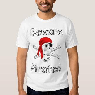 Guárdese de la camiseta para hombre de los piratas camisas