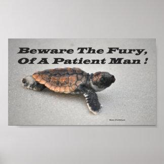 Guárdese de la furia, de un hombre paciente impresiones
