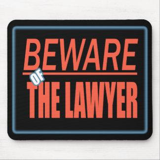 Guárdese de la muestra Mousepad del abogado