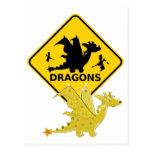Guárdese de la postal linda del dragón del dibujo