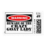 Guárdese de la señora loca Postage de la cabra Envio