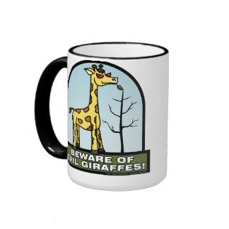 Guárdese de la taza malvada de las jirafas