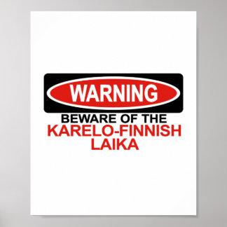 Guárdese de Laika Karelo-Finlandés Impresiones