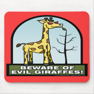 Guárdese de las jirafas malvadas Mousepad Tapete De Ratones