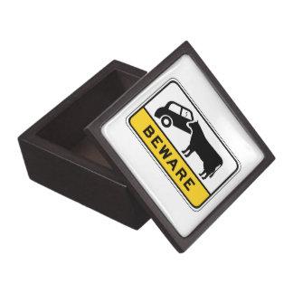 Guárdese de las vacas, señal de peligro del caja de joyas de calidad