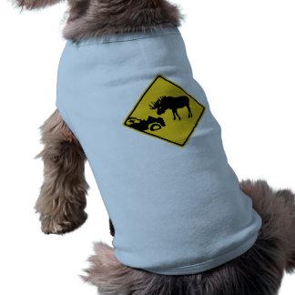 Guárdese de los alces, señal de tráfico, Canadá Camiseta De Perrito