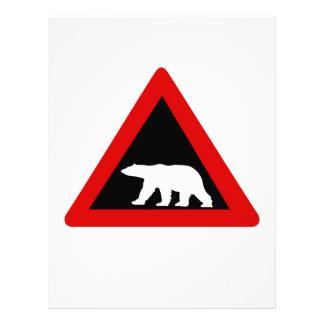 Guárdese de los osos polares, señal de tráfico, membrete