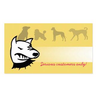 Guárdese de los perros tarjeta de visita