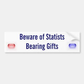 Guárdese de los Statists que llevan los regalos Pegatina De Parachoque