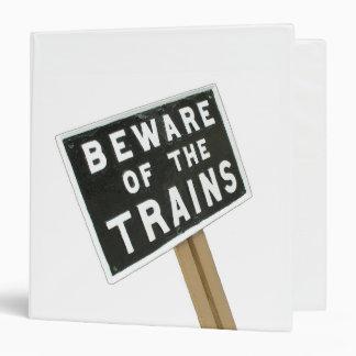 """Guárdese de los trenes carpeta 1 1/2"""""""