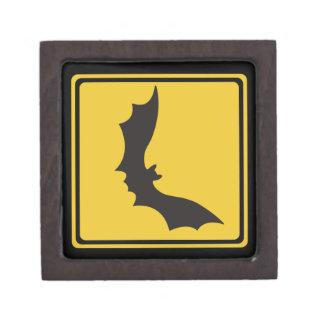 Guárdese de los zorros de vuelo, señal de peligro caja de recuerdo de calidad