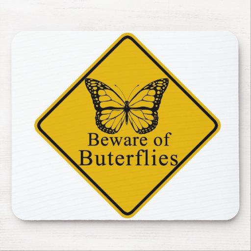 Guárdese de mariposas mousepad