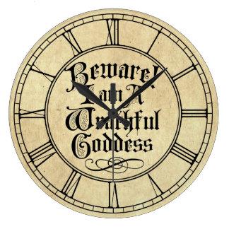 Guárdese de mí son una diosa colérica reloj de pared
