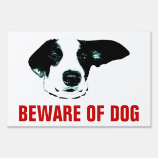 Guárdese de muestra divertida del perro señales