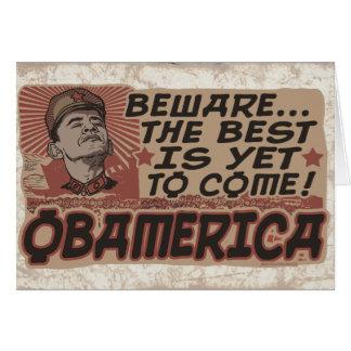 Guárdese de Obamerica de Obama Tarjeta De Felicitación