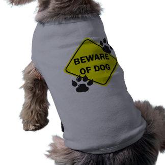 Guárdese de perro con las patas - persiga la camis playera sin mangas para perro