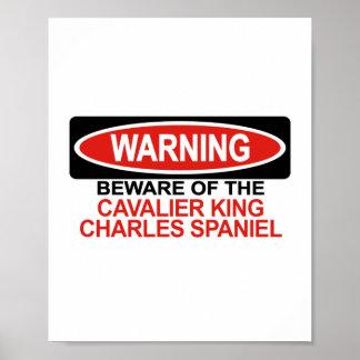 Guárdese de perro de aguas de rey Charles arrogant Impresiones