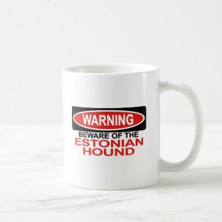 Guárdese de perro estonio tazas de café