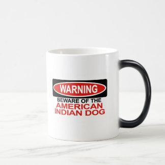 Guárdese de perro indio americano tazas de café