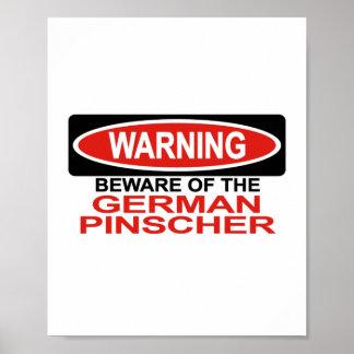 Guárdese de Pinscher alemán Posters