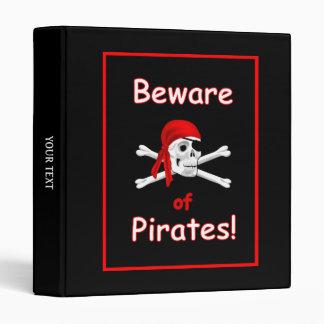"""Guárdese de piratas de 1"""" carpeta"""