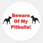 Guárdese de Pitbull Etiqueta