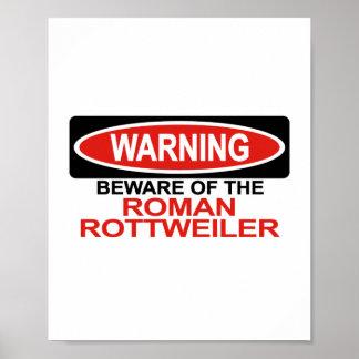 Guárdese de Rottweiler romano Poster