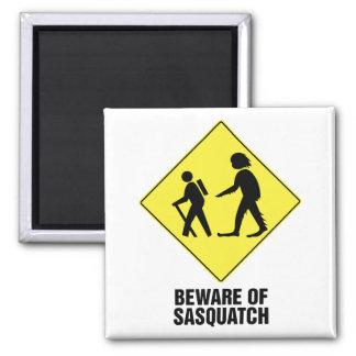 Guárdese de Sasquatch Imán Cuadrado