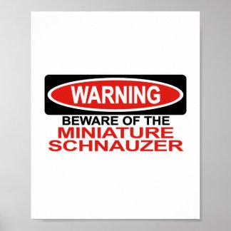 Guárdese de Schnauzer miniatura Posters