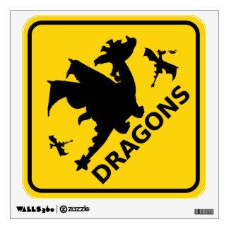 Guárdese de señal de peligro de los dragones