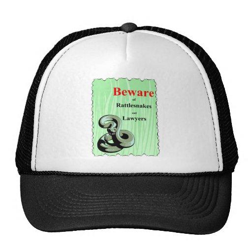 Guárdese de serpientes de cascabel gorra