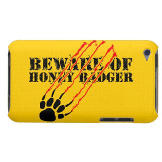 Guárdese de tejón de miel cubierta para iPod de barely there