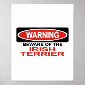 Guárdese de Terrier irlandés Posters