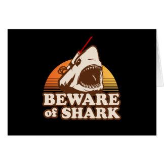 Guárdese de tiburones con los rayos laser de Frick Tarjeton