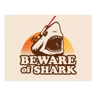 Guárdese de tiburones con los rayos laser de Frick Tarjetas Postales