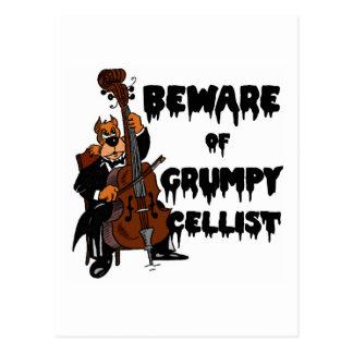 Guárdese de violoncelista gruñón postal