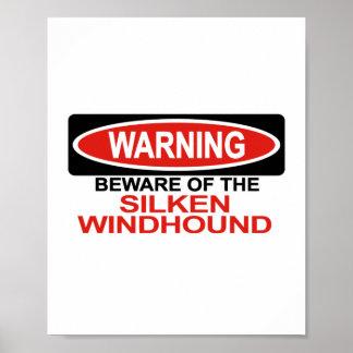 Guárdese de Windhound de seda Poster