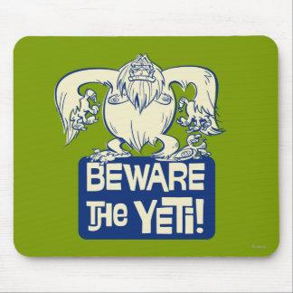 ¡Guárdese de Yeti! Alfombrilla De Ratones