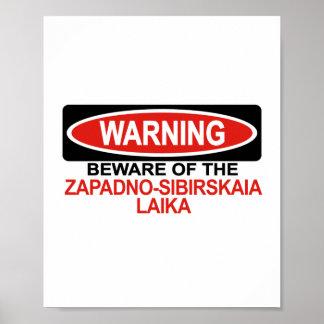 Guárdese de Zapadno-Sibirskaia Laika Poster