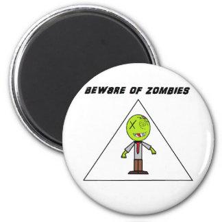 guárdese de zombis imán redondo 5 cm