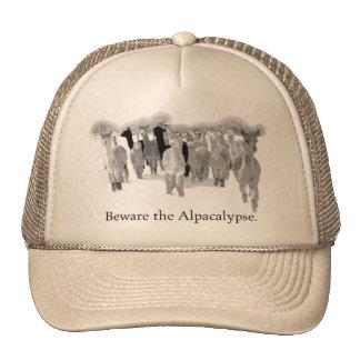 Guárdese del Alpacalypse - humor divertido del ret Gorro