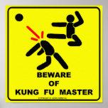 Guárdese del amo de Kung Fu Impresiones
