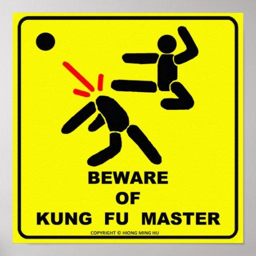 Guárdese del amo de Kung Fu Póster