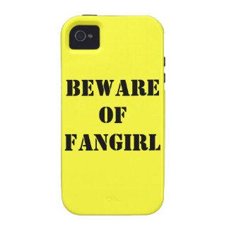 Guárdese del caso del iPhone 4/4s de Fangirl iPhone 4/4S Funda