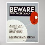 Guárdese del curandero del cáncer WPA 1938 Impresiones