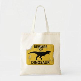 Guárdese del dinosaurio (dañado) bolsa tela barata
