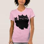 Guárdese del gato negro camisetas