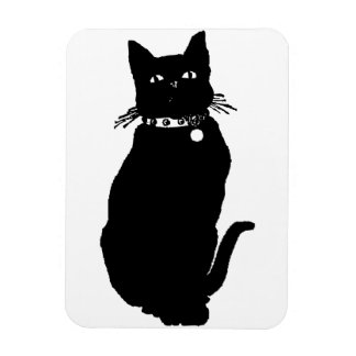 Guárdese del gato negro imán flexible