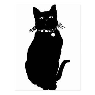 Guárdese del gato negro postal