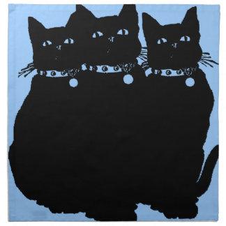 Guárdese del gato negro servilleta
